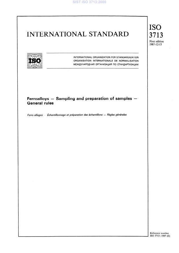 SIST ISO 3713:2000