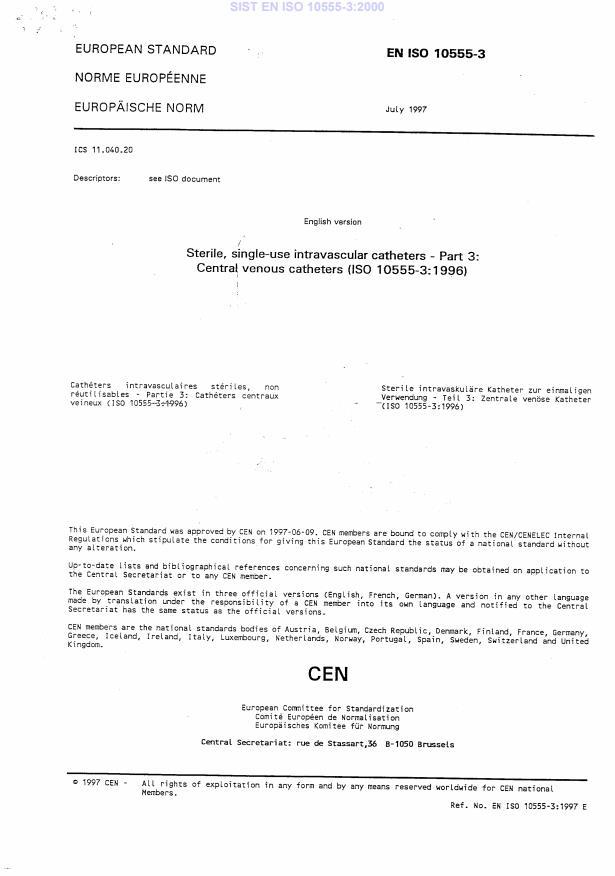 EN ISO 10555-3:2000