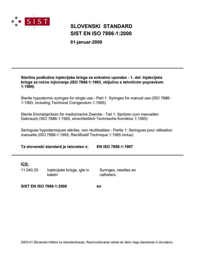 EN ISO 7886-1:2000